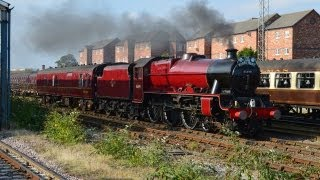 preview picture of video 'LMS 45699 Galatea - The Lune Rivers Trust Special, Carnforth-Chester. 28/9/13'