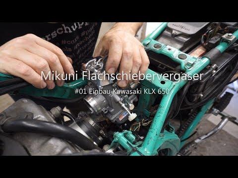 Kawasaki KLX 650 C MIKUNI TM 40 Flachschiebervergaser Vergaser Tuning Performance Einbau