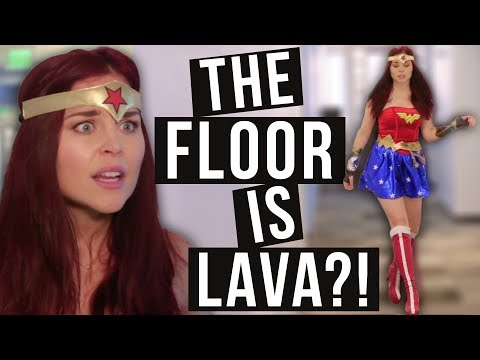 What if Wonder Woman Played The Floor Is Lava?