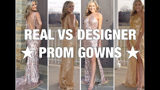 THE DIFFERENCE BETWEEN A DESIGNER PROM GOWN VS COUNTERFEIT // MAC DUGGAL