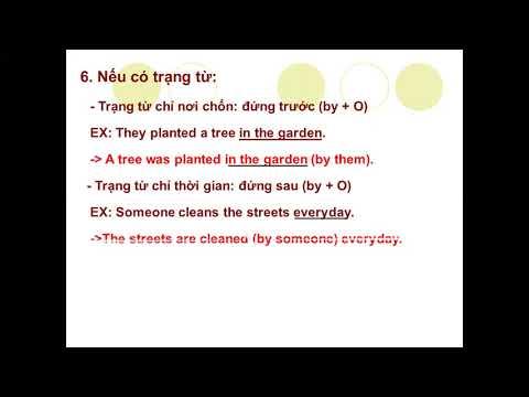 Môn Tiếng Anh khối 9 - The Passive Voice ( Câu bị động ) - Gv Đỗ Thị Chung - Trường THCS An Khang