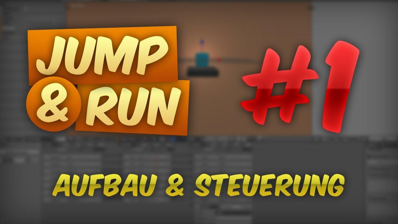 JUMP & RUN #1 - Aufbau & Steuerung | Tutorial Blender Game Engine [DEUTSCH] [HD]