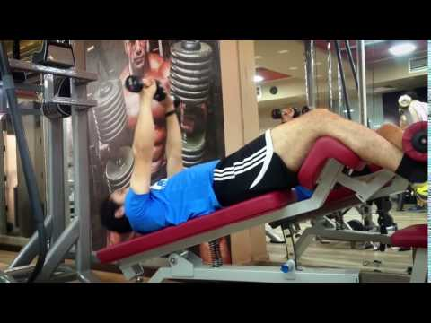 Dumbbell Push Crunch: Exercise Demo How-to