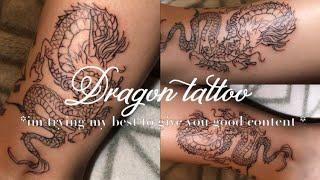 DRAGON TATTOO ON MYSELF 🐉🥰