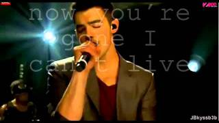 I'm sorry   Joe Jonas Live Version Lyrics on screen