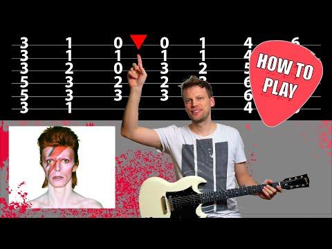 David Bowie Starman Guitar Lesson Chords On Screen Guitar