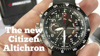Citizen Eco-Drive Promaster Altichron Altimeter Compass Solar Watch Review BN5058-07E