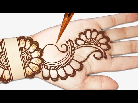 Easy mehndi designs for front hands - Easy beautiful mehndi - Simple Henna designs 2019