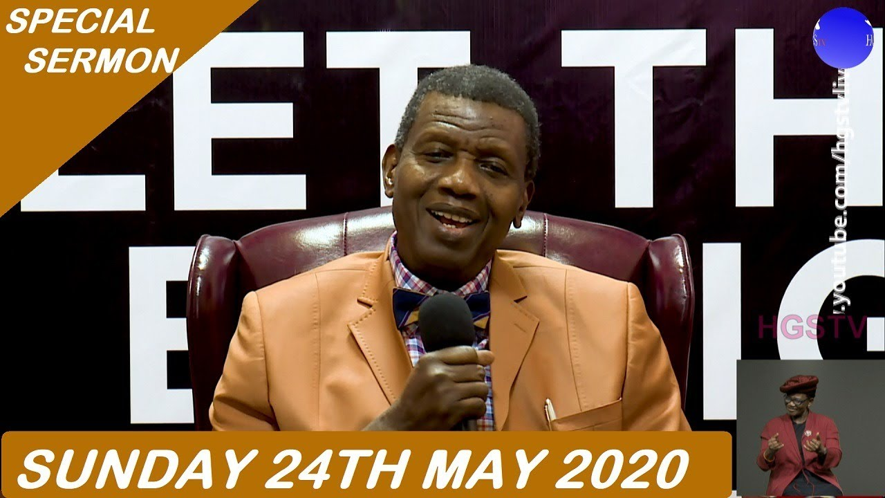 RCCG Sunday Live Service 24th May 2020