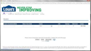 Lowe's Application Online Video