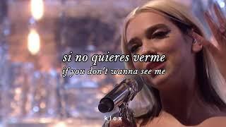 dua lipa ; don't start now [en vivo - live] (sub. español - lyrics)