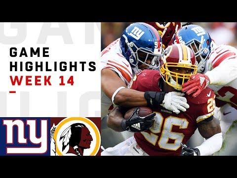 Giants vs. Redskins Week 14 Highlights | NFL 2018