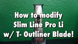 How To Deep Clean And Modify Andis Slim Line Pro Li / Tutorial (HD)