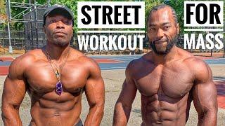 Street Workout For Mass   No Weights Upper Body Workout