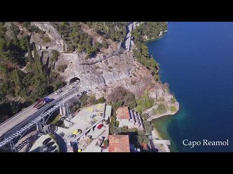 La ciclabile del lago di Garda dal drone