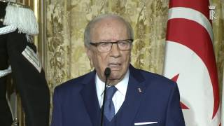 Mattarella - Essebsi : Dichiarazioni congiunte alla stampa