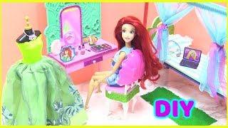 Tự Làm Phòng Ngủ Công Chúa Ariel Đơn Giản (đồ chơi trẻ em - Bí Đỏ)
