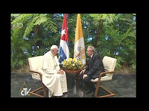 Visite du Pape François au Président cubain Raoul Castro