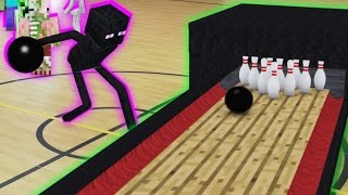 Monster School in Real Life Episode 10: Bowling - Minecraft Animation