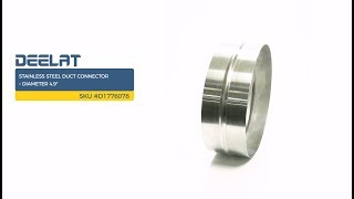 Stainless Steel Duct Connector – Diameter 4.9