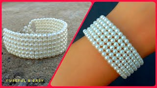 How To Make//A Beautiful Bridal Bracelet//Beading Tutorial// Useful & Easy