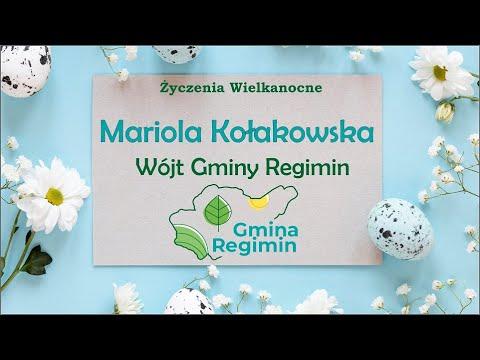 Życzenia Wielkanocne od Wójt Gminy Regimin Marioli Kołakowskiej (VIDEO)