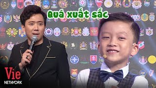 Tran Thanh admires the 6-year-old boy who can identify national emblems exceptionally