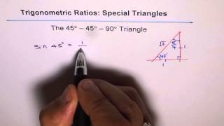 Special Triangle 45 45 90