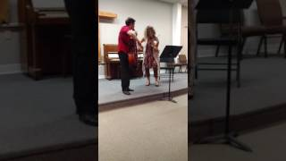Short Clip of Fiddling by Brie Hurlbert and Jeff Faragher