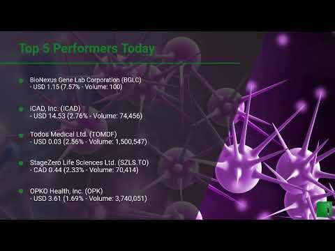InvestorChannel's Cancer Diagnostics Watchlist Update for Tuesday, August, 03, 2021, 16:00 EST