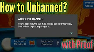 Miniclip Unbanned 8 Ball pool Account with Proof- How to Unbanned 8bp Account