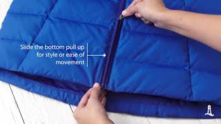Winter Coats – How To Work A Two-Way Zipper | Lands End