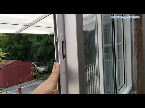 . Раздвижная алюминиевая система. Остекления балкона.