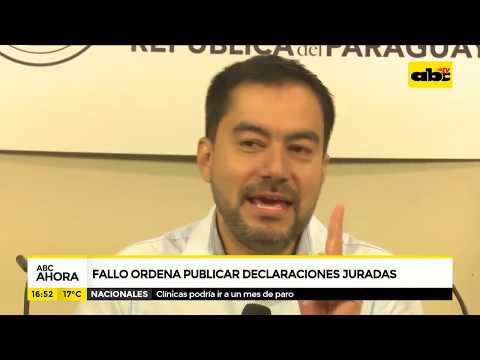 Fallo ordena publicar declaraciones juradas