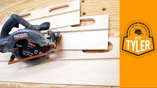 DIY Circular Saw Track | Build With ONE Tool!