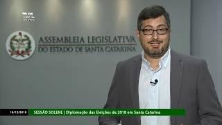 Sessão Solene - Diplomação das Eleições de 2018 em SC - 18/12/18