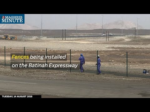 Fences being installed on the Batinah Expressway
