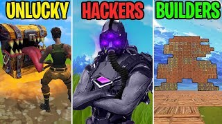 NEW TRAPPED CHEST!? - UNLUCKY vs HACKERS vs BUILDERS