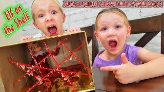 Evil Elf on the Shelf Maximum Security Box Fort Prison! No Escape for 24 Hours!!!
