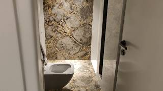 Latest High Class Room Attached Italian Marble Bathroom Floor And Wall Design With Price
