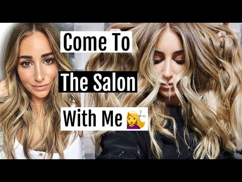 COME TO THE HAIR SALON WITH ME! MY COLOR, CUT AND STYLE!