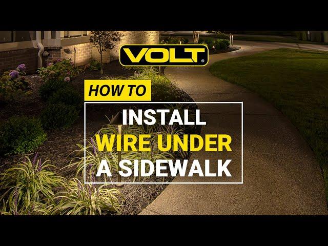 Video Install Outdoor Lighting Wire Under A Sidewalk
