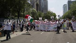 Mexico: Over 10,000 march against AMLO's government in Mexico City