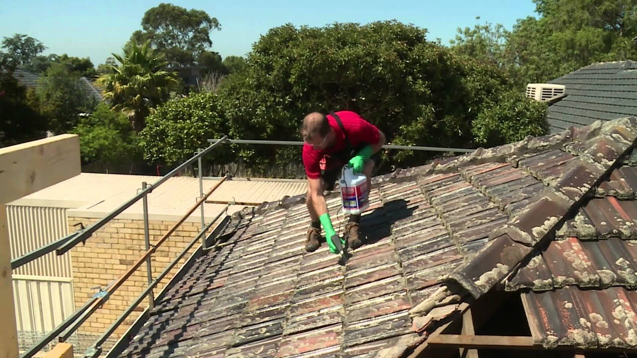 roof cleaning - tiles bunnings