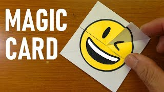Emoji Paper Magic Card - DIY Face Changer Tutorial #StayHome #WithMe