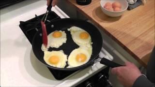 Fried eggs over easy