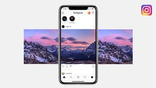 How to post PANORAMA on Instagram | Seamless multi post tutorial