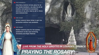 Live @ the Holy Grotto in Lourdes, France. Sending your Prayer Post to the Grotto.