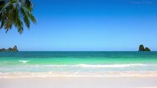Pan Flute, Piano, Drums... Meditation Music - Relax Beach Background