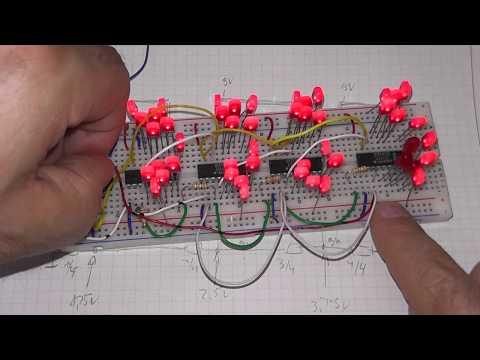 LED Aussteuerungsanzeige Bargraph VU-Meter (UAA180 mit 48 LEDs)